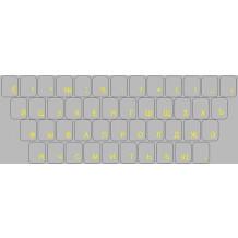 Pegatinas para teclado CIRÍLICO RUSO – caracteres amarillos